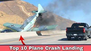 Top 10 Plane Crash Landing On Hudson River/Runway / Highway/Road/Car/Water/Beach/Aircraft Carrier