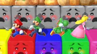 Mario Party 10 MiniGames - Mario Vs Peach Vs Yoshi Vs Luigi (Master Difficulty)