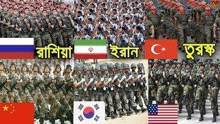পৃথিবীর সবচেয়ে শক্তিশালী ১০টি সেনাবাহিনী ও সামরিক শক্তির দেশ। World Top 10 Powerful Country