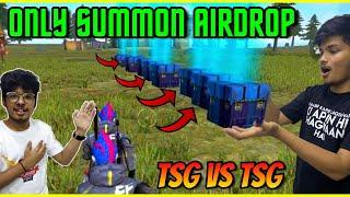 FREEFIRE    BEST SUMMON AIRDROP CHALLENGE ON PEAK WITH TSG ARMY GUILD    DONT MISS THE ENDING   #TSG