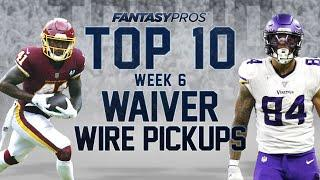 Top 10 Week 6 Waiver Wire Pickups (2020 Fantasy Football)