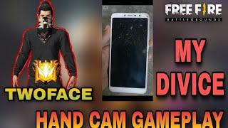 Free fire top 10 globol player low and device hand cam gameplay//TWO-FACE GAMING