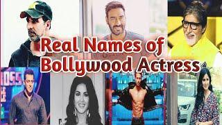 Top 10 Bollywood actress original name .Bollywood ke hero ka original name & age .star's real name.