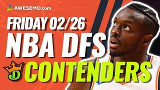 DRAFTKINGS NBA DFS PICKS TODAY | Top 10 ConTENders Fri 2/26 | NBA DFS Simulations