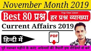 Current Affairs : November 2019 | Important current Affairs Questions | current Affairs 2019