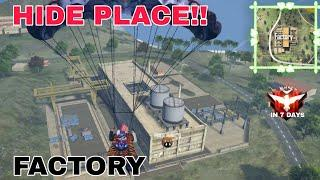 Top 10 Hide Place in Factory | Tips and Tricks | Free Fire Gameplay | The Legend