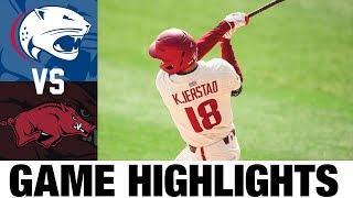 South Alabama vs #10 Arkansas Highlights | Game 3 | 2020 College Baseball