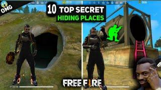 TOP 10 HIDING PLACES IN BERMUDA MAP || FREE FIRE  BEST HIDING PLACE || RANK MATCH  [ MUST WATCH ]