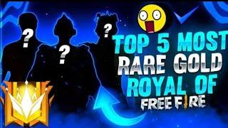 TOP 3 EXPENSIVE GOLD ROYAL IN FREE FIRE// SR GAMING