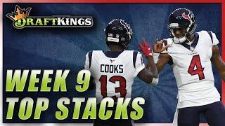 DRAFTKINGS WEEK 9 TOP STACKS: NFL DFS PICKS