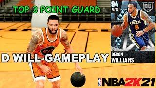 DIAMOND DERON WILLIAMS GAMEPLAY!! HE IS NO DOUBT A TOP 3 POINT GUARD IN NBA2K21 MY TEAM!! IDOL PACKS