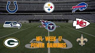 Top 10 NFL Power Rankings Week 17