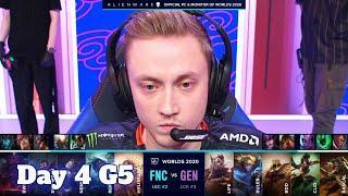 FNC vs GEN | Day 4 Group C S10 LoL Worlds 2020 | Fnatic vs Gen.G - Groups full game