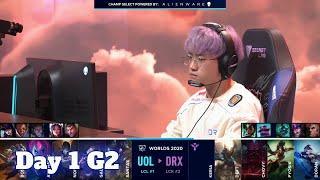 UOL vs DRX | Day 1 Group D S10 LoL Worlds 2020 | Unicorns of Love vs DRX - Groups full game