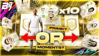 97 ICON MOMENTS R9 RONALDO IN A PACK! 10 X PRIME OR ICON MOMENTS PACKS! | FIFA 21 ULTIMATE TEAM