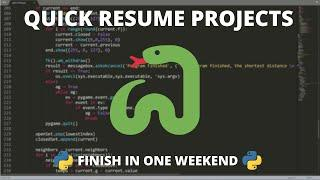 Python Resume Projects - You Can Finish in a Weekend
