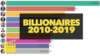 Top 10 RICHEST People In The Word (2010 - 2019) ★ Billionaire Bar Chart Race