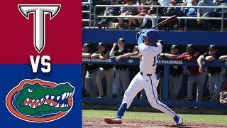 Troy vs #10 Florida Highlights | Game 3 | 2020 College Baseball Highlights