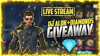 FREE FIRE LIVE ||10 DJ ALOK GIVEAWAYS ||DIAMONDS GIVEAWAYS ||CUSTOM ROOMS UNLIMITED|| NEASH GAMER