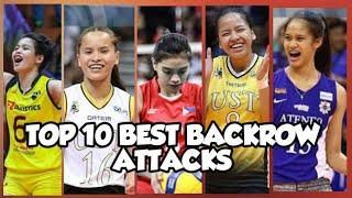 TOP 10 MOST POWERFUL BACKROW ATTACKS   PH WOMEN'S VOLLEYBALL • LVPI TV