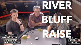 Poker Time 5-10 Cash Game: Matt Vaughan gets Bluff Raised on the River!