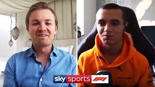 Lando reveals shaved head & Rosberg names his 5 greatest drivers! | Sky F1 Vodcast