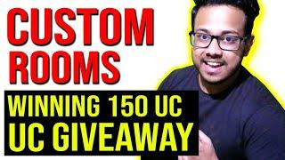 PUBG MOBILE LIVE   CUSTOM ROOMS    150 UC or RS 150 GIVEAWAY !g in chat