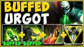 WTF NEW URGOT BUFFS MAKE HIS NEW COMBO 100% UNFAIR! URGOT SEASON 10 TOP GAMEPLAY! League of Legends