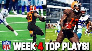 RECREATING THE TOP 10 PLAYS FROM NFL WEEK 4!! (Craziest Week Yet!)