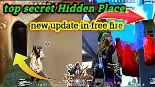Top 5 new hidden /secret place in free fire | new Hidden Place Place Kalahari map #Dynamitehunter
