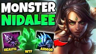 NIDALEE IS LEGIT UNKILLABLE WITH THIS HYBRID TANK BUILD! (1V3 WITH EASE) - League of Legends
