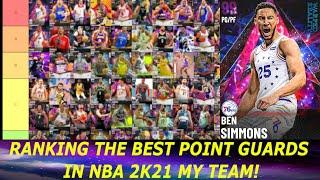 RANKING THE BEST POINT GUARDS IN NBA 2K21 MY TEAM! (POINT GUARD TIER LIST EP. 8)