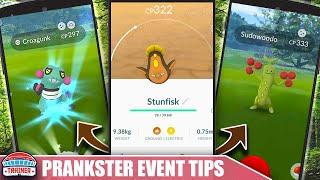 SHINY PRANKSTER EVENT! TOP TIPS to MAX *APRIL FOOLS* EVENT - SHINY CROAGUNK & SUDOWOODO | POKÉMON GO