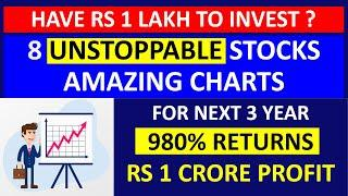 Earn 1 Crore - Have 1 Lakh To Invest ? 8 Unstoppable Stocks With Amazing Breakout In Technical Chart