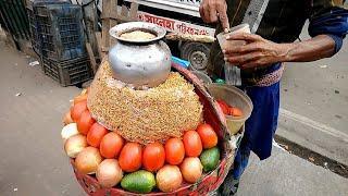Best Hard Working Old Man Selling Tasty Snacks Masala Chanachur Vorta Cost 10 only Yummy Street food