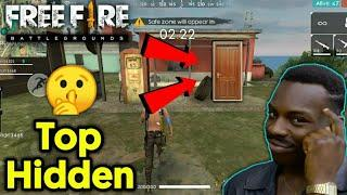 Free Fire Top Hidden Place | Best Hiding Place in Free Fire | ABK Telugu Gamer