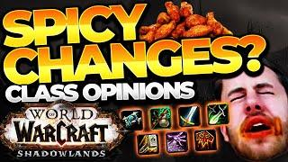 SPICY CHANGES? SHADOWLANDS CLASS CHANGES: Monk, Paladin, Priest, Rogue, Shaman, Warlock, Warrior