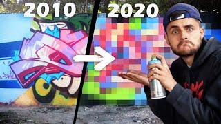 RePainting my 10 years OLD Graffiti (did I get Worse?)