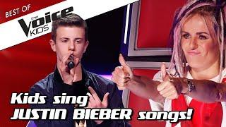 TOP 10 | AWESOME JUSTIN BIEBER covers in The Voice Kids