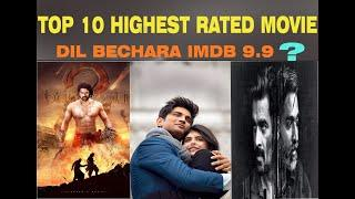 Top 10 Highest Rated IMDB Indian movie of all time (LATEST LIST)  | Dil bechara imdb rating 9.9 ?