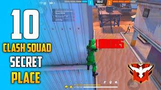 TOP 10 CLASH SQUAD SECRET PLACE IN FREE FIRE | CLASH SQUAD RANK PUSH TIPS & TRICK IN FREE FIRE