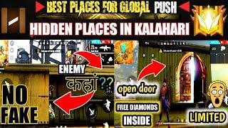hidden places in Kalahari  of garena free fire ••TOP 10 secret places ••PUSH RANK••THE UDHAMI GAMERS