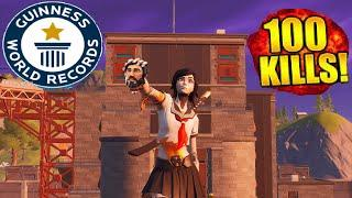 """Top 100 agressive kills in authority """" fortnite"""" according to Guinness word record."""