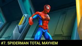 Top10 Android Spiderman games//compressed games//under 200 MB// Tamil //DDDD gaming