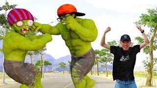 Giant Zombie and Ice Scream & Superheroes NickHulk Love Tani | Scary Teacher 3D In Real Life