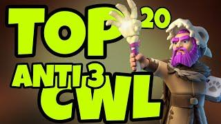 NEW TOP 20 TH13 ANTI 3 CWL WAR BASES WITH LINK | ANTI AIR | ANTI YETI | ANTI 3 |