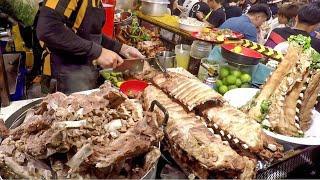 Best Bangkok Street Food in Ratchada Rot Fai Train Night Market, Thailand