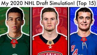2020 NHL Mock Draft Lottery Simulation! (TOP 15 Prospect Rankings & Lafreniere/Byfield/Stutzle Talk)