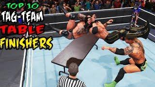 WWE 2K20 Top 10 Table Tag-Team Finishers!
