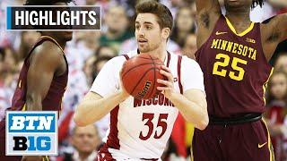 Highlights: Badgers Hang On vs. Gophers | Minnesota at Wisconsin | March 1, 2020